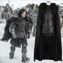 American TV Series Game of Thrones Cosplay Costume Jon Snow Cosplay Knight Role Play Costume Halloween Free S