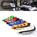 """7/8 """"22mm Guidão Da Motocicleta Mão Guarda Protector com LED Sinais de Volta Luz Branca Proteção Handguards Motocross Da Bicicleta Da Sujeira"""