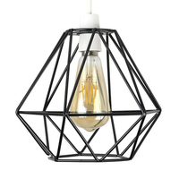Cafes Decorative Ceiling Light Use Geometric Hotel Vintage Industrial Cover Modern Lounge Lamp Shade Iron Structure Home