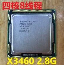 Processador xeon lntel xeon, processador x3460 2.8g/8m/2.5g lga1156 quad core cpu slbjk igual i7 860 frete grátis 3460,