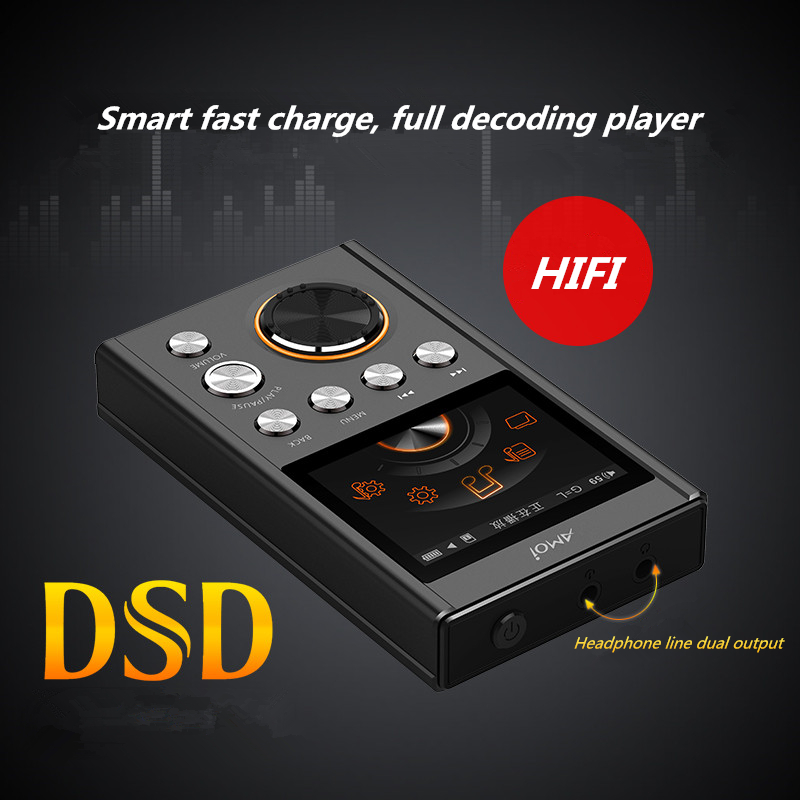 Amoi C20 Portable HIFI MP3 player DSD64 Decoding stereo Lossless High Quality Music player Audiophile Support TF Card walkman цена и фото