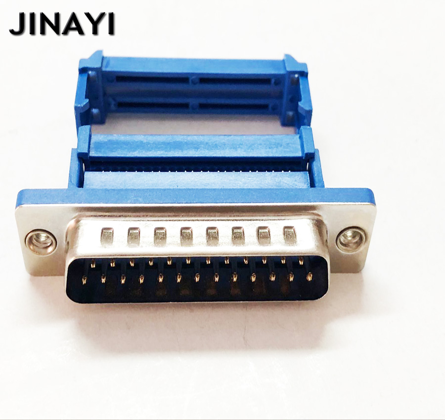 3pcs DB25 25 Pin Female Parallel IDC Crimp Connector for Flat Ribbon Cable