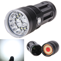 T6 LED Flashlight 18650 Zoom Torch Waterproof Flashlights 14xCREE XM-L 34000LM Zoomable light For 4x18650 3.7v