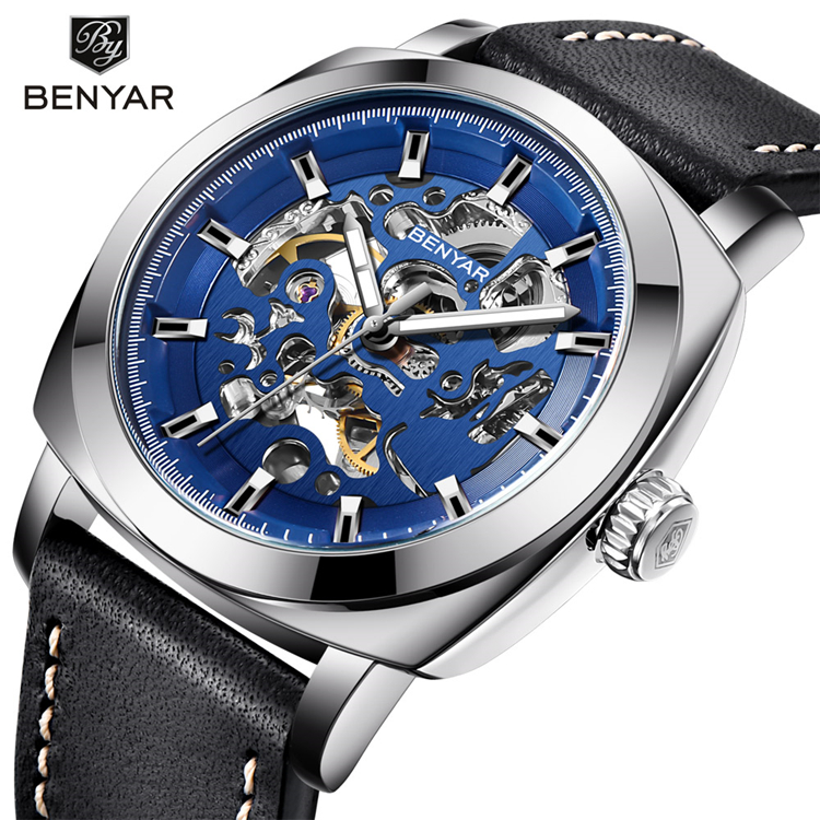 2018 BENYAR Mens Classic Style Mechanical Watches Men Waterproof Genuine Leather Brand Luxury Automatic Watch Relogio Masculino2018 BENYAR Mens Classic Style Mechanical Watches Men Waterproof Genuine Leather Brand Luxury Automatic Watch Relogio Masculino