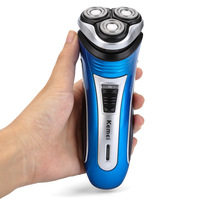 Kemei KM 2801 Comfortable Rechargeable Triple Floating Heads Electric Razor Shaver Beard With Trimmer For Men