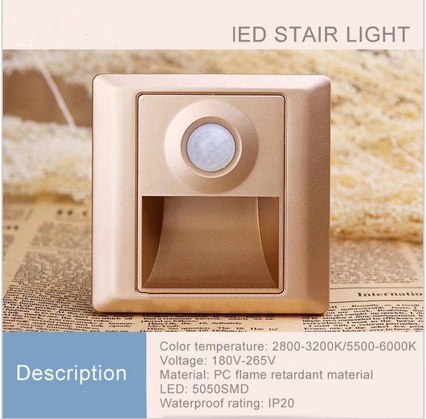 Indoor PIR Motion Sensor Led Stair Light Infrared Human Body Induction Lamp  Recessed Steps Ladder 86 Box Wall Lamps In LED Indoor Wall Lamps From Lights  ...