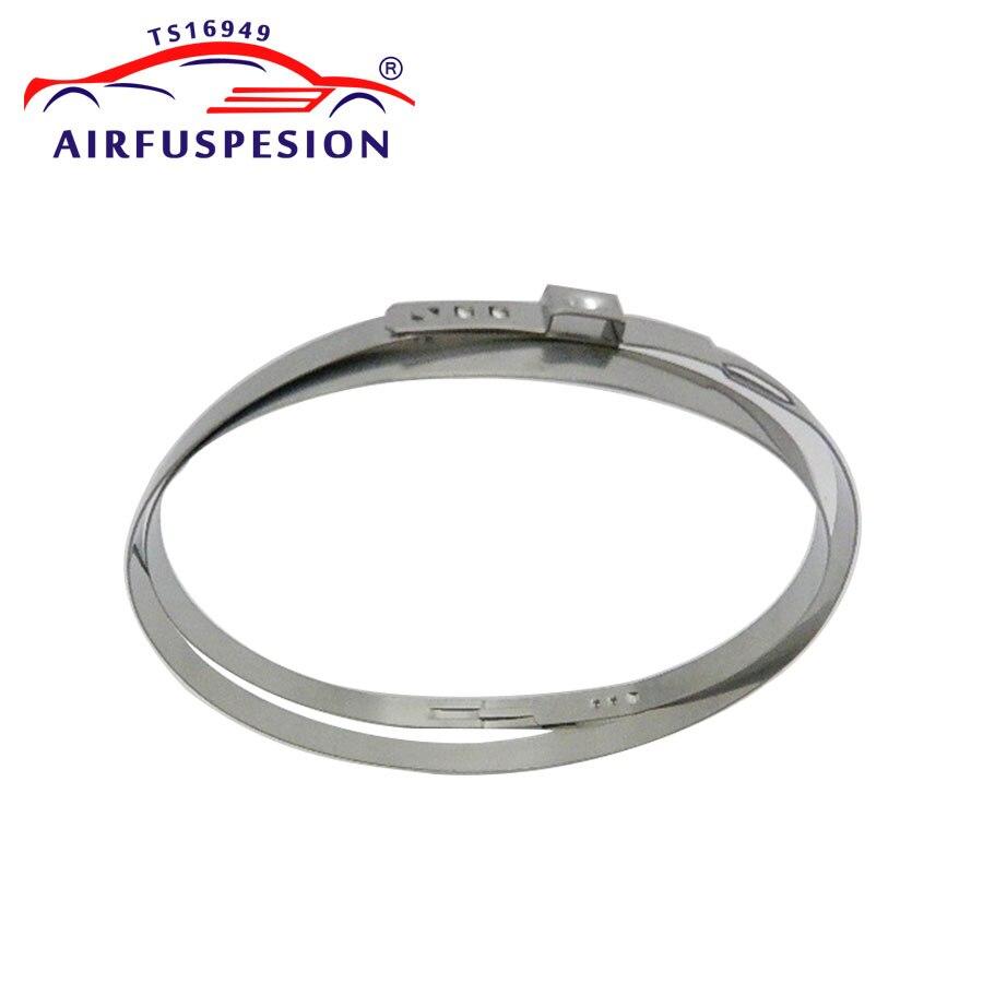 10 juegos de suspensión de aire de Kits de reparación de polvo de anillo para Mercedes W211 Fijación de anillo de acero 2113270092, 2113205413, 2113205513, 2113206113