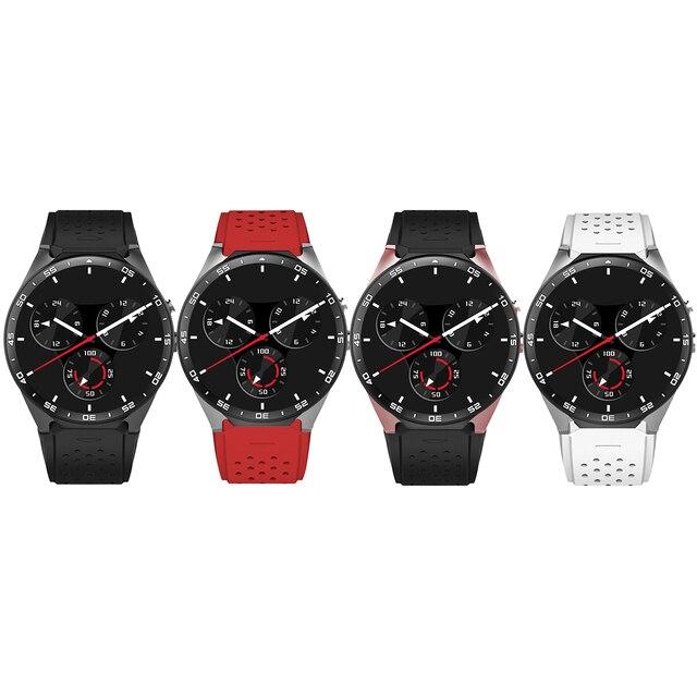KW88 3 gam WIFI GPS bluetooth smart watch Android 5.1 MTK6580 CPU 1.39 inch 2.0MP máy ảnh smartwatch cho iphone huawei điện thoại đồng hồ