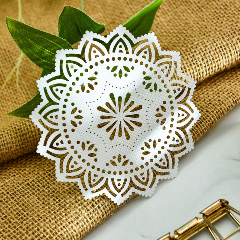 KSCRAFT White Lace Paper Doilies/Placemats for Wedding Party Decoration Supplies Scrapbooking Paper Crafts 4