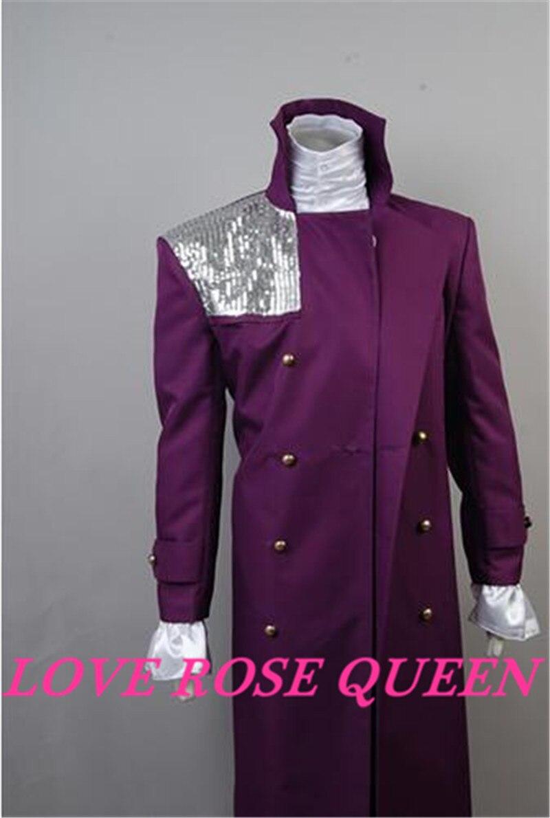 Prince Rogers Nelson Purple Rain Halloween COSplay Costume Concert Jacket Suit
