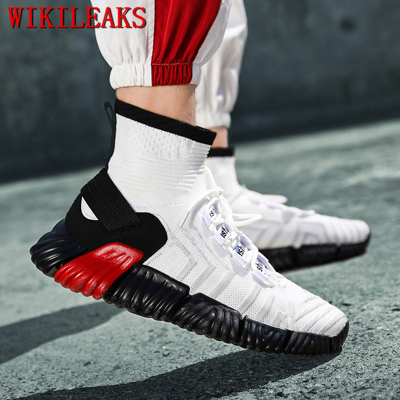 Zapatos Noir Maille Sneakers Hop Tenis blanc Masculino rouge Air Chaussures Hombre Hip De Sapatos Casual Hommes Plein Mode Homme Respirant qSTCwn78x