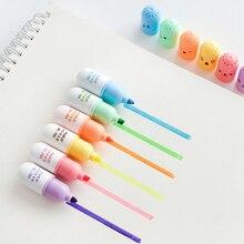 36 teile/los Nette pille highlighter marker stift Farbe spot punkt liner Kapsel Schreibwaren Büro zubehör Schule liefert A6869