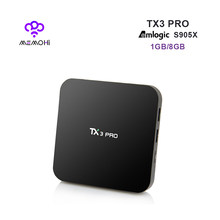 MEMOBOX TX3 Pro TV Box UHD 4 K Amlogic S905X Quad Core Android 6.0 1 Gam 8 Gam Media Player 4 K DLNA Airplay Miracast Set-top hộp(China)