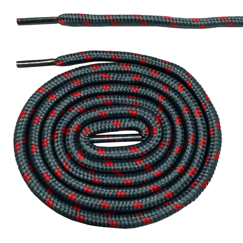 Круглые ботильоны без шнурков шнурки с точками 10 цветов 180 см/70,5 дюйма - Цвет: gray and red