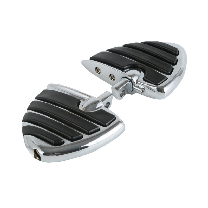 Motorcycle Mount Style Wing Style Foot Rests FootPegs For Harley Touring Road King Electra Glide Softail