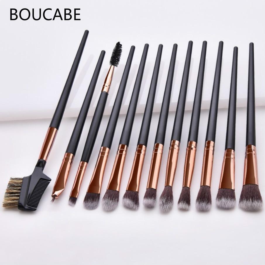 2-12pcs Professional Eyes Makeup Brushes Set Blending Eyeshadow Eyebrow Brush For Makeup New Make Up Brushes Set Beauty Tool