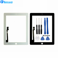 Black White For Ipad 3 4 Touch Screen Digitizer Panel Replacement Parts For Ipad 3 4