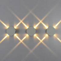 Free Shipping LED Wall Light AC85 265V 2 3W Red Green Yellow Purple Blue Cool