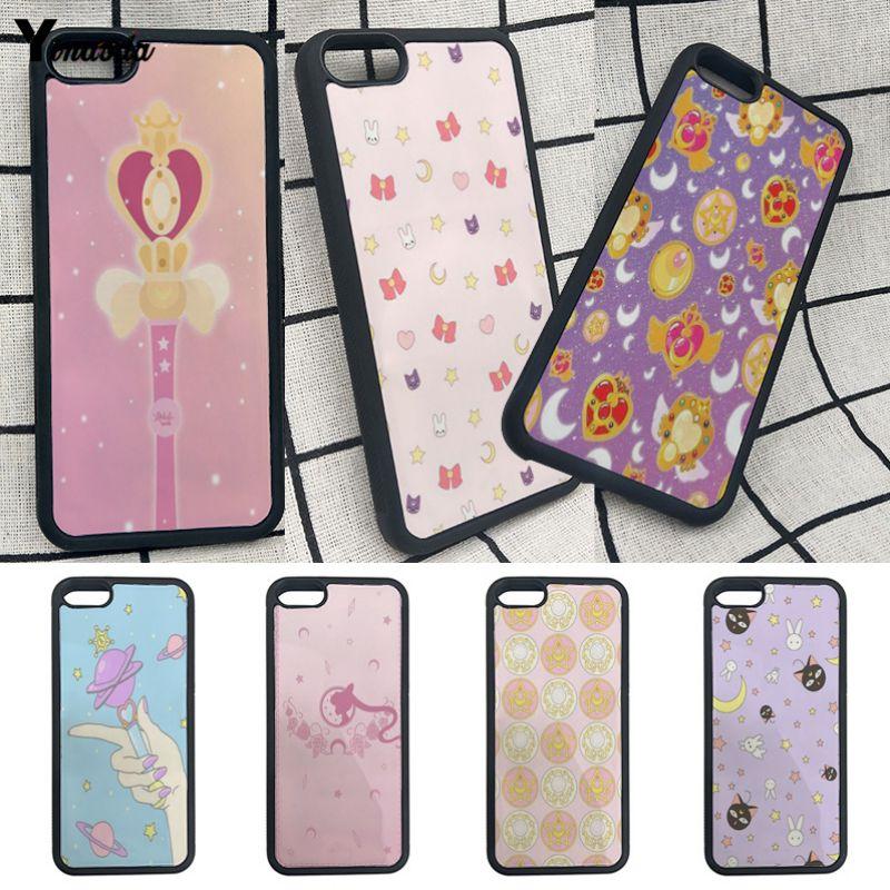 Cellphones & Telecommunications Yinuoda Sailor Moon Wallpaper Soft Rubber Black Phone Case For Iphone 7 7plus X 8 8plus 6s 6 6plus 5 5s Se