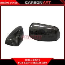 Замена двери зеркало caps Углеродного волокна боковая крышка зеркало для bmw садан e60 545i 550i 2004 2005 2006 E63 E64 645Ci 650i 630i