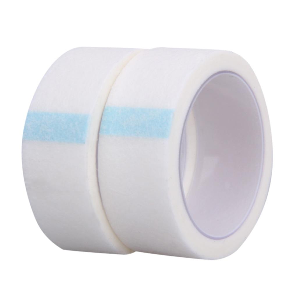 2 Rolls Professional False Eyelashes Individual Extension Guel Gel Micropore Paper Medical Tape Waterproof Fake Eyelashes Glue