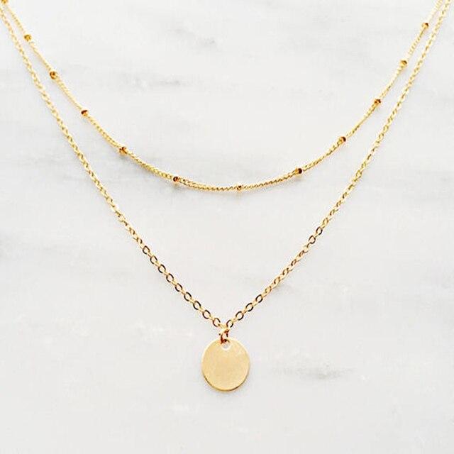 e287d0ae8 الذهب الطبقات قلادة/عملة ذهبية قلادة/الأقمار الصناعية سلسلة قلادة/البوهيمي  قلادة/
