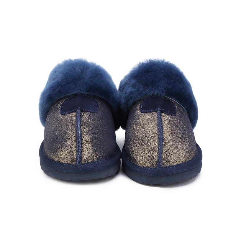 MBR FORCE Fashion Warm Women Shoes Natural Fur  Slippers Home Shoes Winter Suede Slippers Woman Indoor Shoes Wool Slippers 1