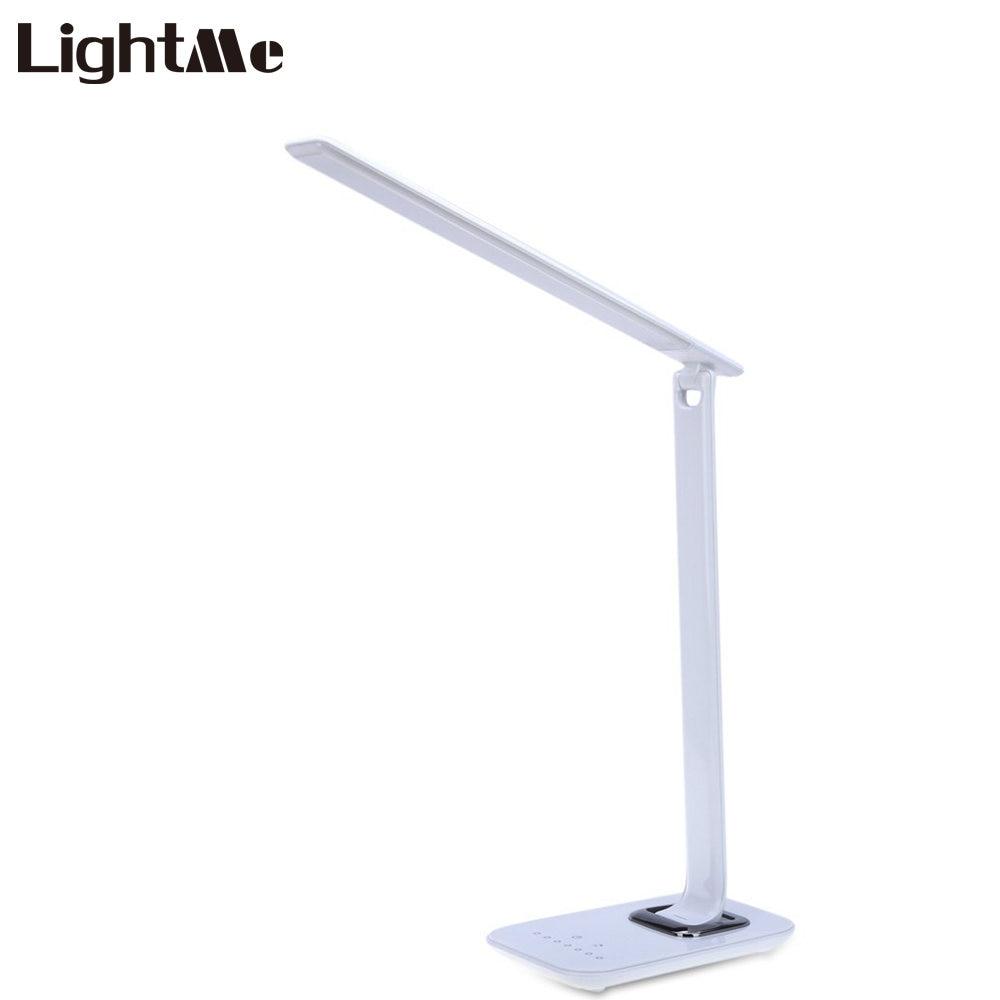 Lightme 12W Dimmable LED Book Light Eye Care LED Desk Lamp Touch Sensor Foldable LED Night Light Multifunction Office LED Lamp