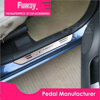 4pcs Car styling stainless Steel door welcome pedal plate steps car accessories for Toyota Corolla Rav4 camry levin 2014 2013