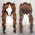 Harajuku animation factory outlets lolita daily volume of natural golden brown wavy cosplay wig