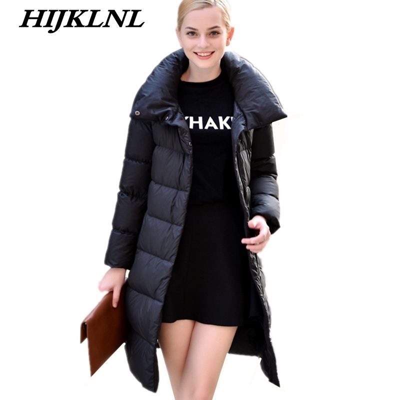 2019 New Hot Women Winter   Down     Coat   Slim Large Size Solid Long   Down   Jacket Women Thicken   Coat   Fashion Warm Outerwear CW070