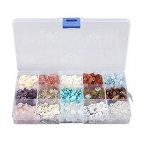 15 Cores misturadas 5mm-8mm Pedras Preciosas Drusy Druzy DIY Contas Descobertas Componentes com Caixa 365 g/caixa
