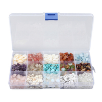 15 Colors Mixed 5mm 8mm Gem Stones DIY Druzy Drusy Beads Findings Components With Box 365g