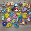 New 30pcs/set Pocket Monster Keychain Pendants Anime Pikachu Pokeball Bulbasaur Squirtle Eevee Jigglypuff Gengar Figure Toy