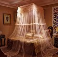Mosquito Nets Curtain for Bedding Set Lace Curtain Kingsize Bed Canopy Netting Princess Mosquito Net (Pink)