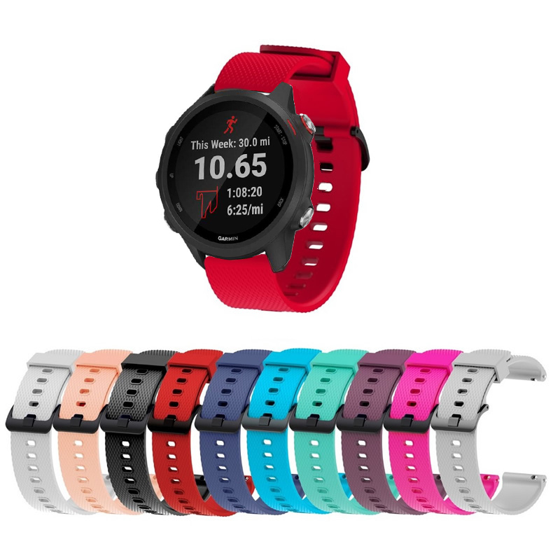 Replacement-Strap Watch-Band Garmin Forerunner 245M Soft-Silicone Smart Colorful