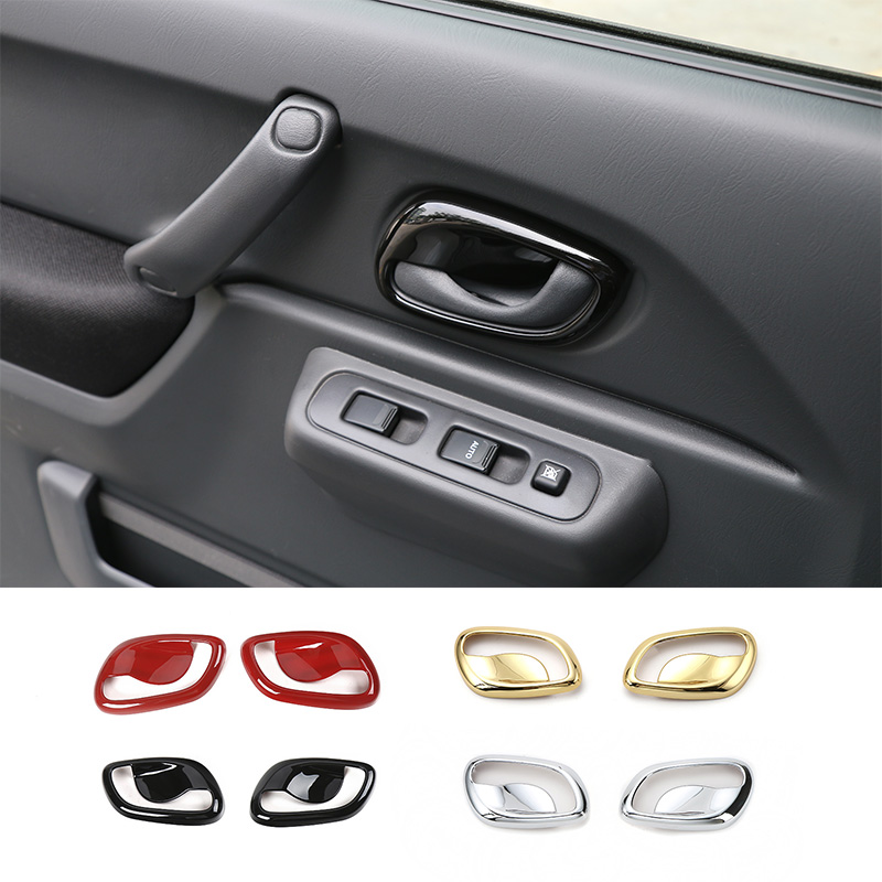 SHINEKA Car Styling Inner Door Handle Bowl Cover Trim Interior ABS Decoration Sticker for Suzuki Jimny 2007 Car Accessories in Interior Mouldings from Automobiles Motorcycles
