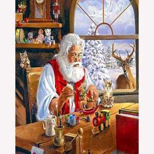 Diamond Paintings Santa Claus 5D Diy Resin Full Diamond Diamond Embroidered Cross Stitch Mosaic Living Room Bedroom Paintings dazzle screen prints diamond paintings