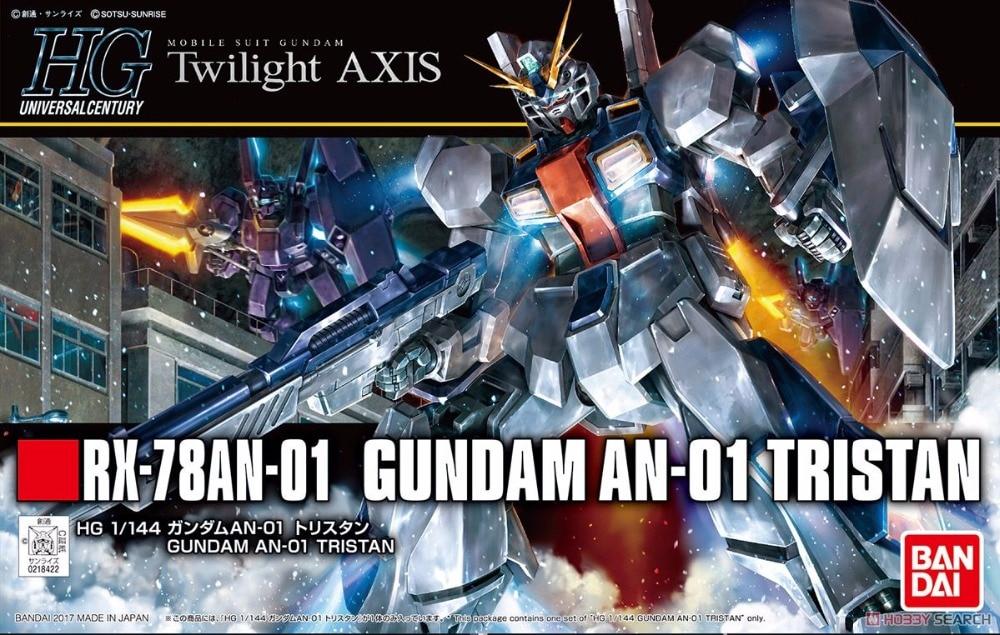 1PCS Bandai HGUC 205 1/144 Gundam AN-01 Tristan Mobile Suit Assembly Model Kits lbx toys Anime action figure TOYS Gunpla ohs bandai mg 179 1 100 sengoku astray gundam mobile suit assembly model kits