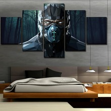5 Pieces Movie Mortal Kombat Sub-Zero Poster Home Decoration Painting Canvas Printed Artwork Wall Art Cuadros Modular Pictures