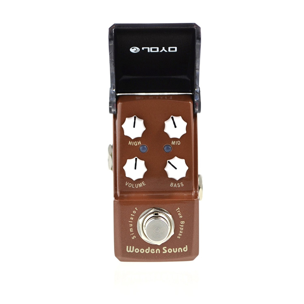 JOYO JF-323 IRONMAN Wooden Sound Mini Electric Guitar Effect Pedal Box Acoustic Guitar Simulator True Bypass
