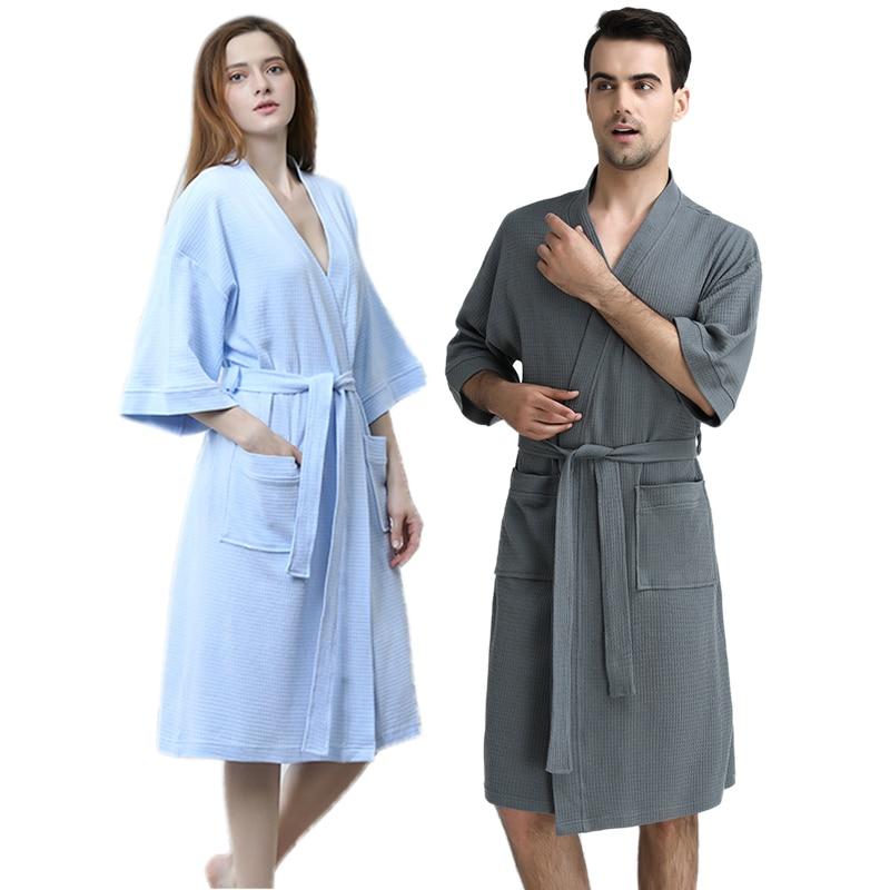 Women 100% Cotton Suck Sweat Towel Bath Robe Femme Sexy Kimono Waffle  Bathrobe Bridesmaid Dressing. US  21.95. On Sale ... 041e864b4