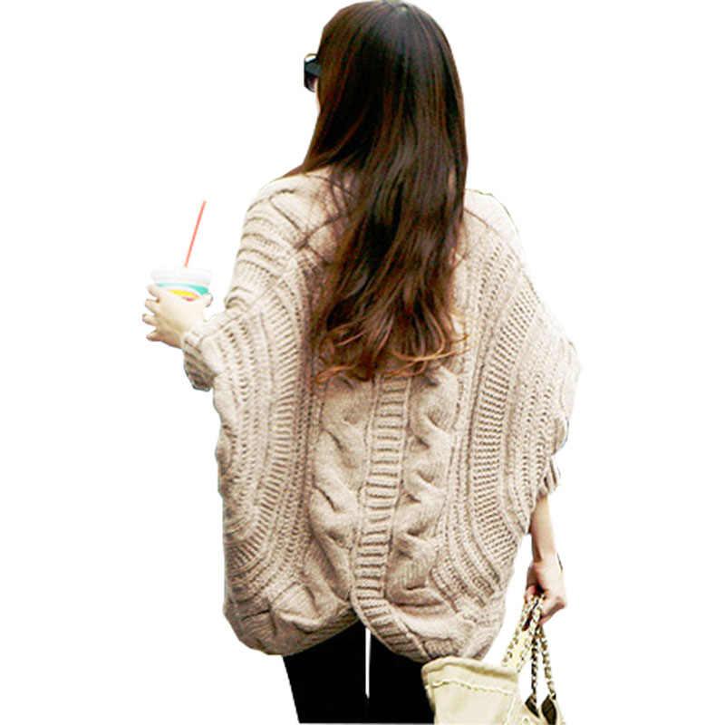 Strickjacken Pullover 2019 Frauen Mode Neu Kommen Herbst Und Winter Weibliche Kleidung Fledermaus Ärmel Stricken Pluse Größe Pullover 903
