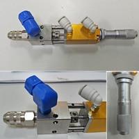 Alta Qualidade Precisão Fine-tuning Válvula Distribuidora Dedal/Pequeno Fluxo Válvula de Distribuição Com um Micrômetro 4-7Kgf/cm 1/8