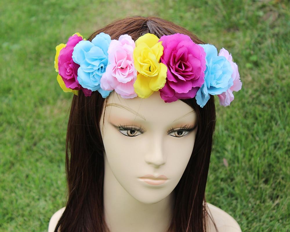 Big Flower Girls Flower Fairy Headband Beautiful Women Flower Fairy