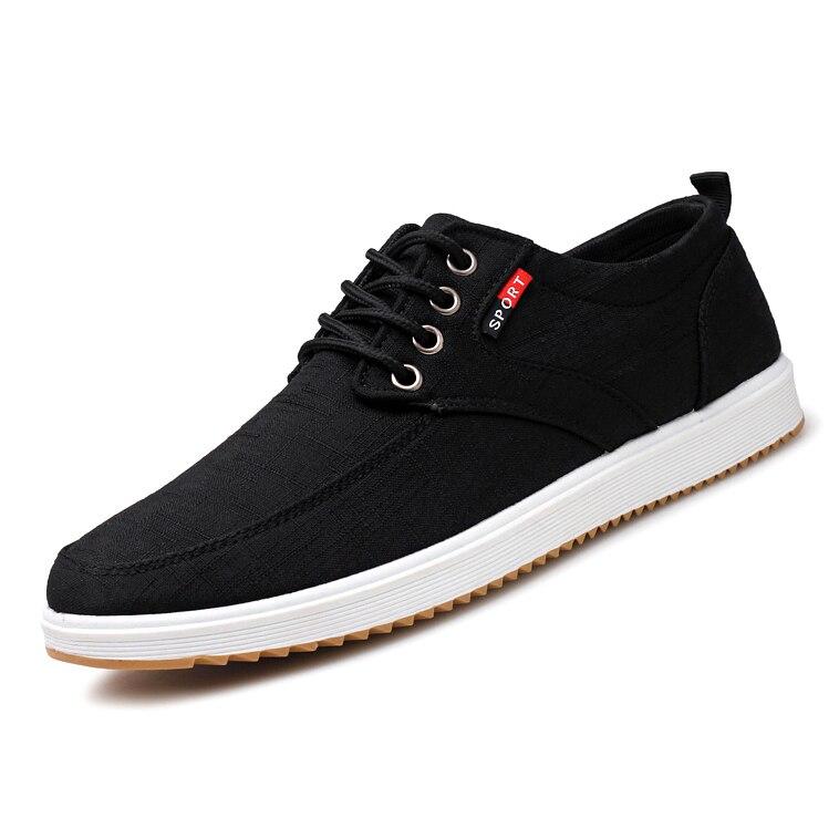 Men Casual Shoes 2019 Summer Canvas Shoes Men Breathable Casual Canvas Men Shoes Walking Men Shoes Chaussure Homme Factory sales 5