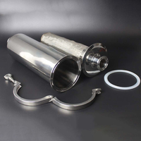 Fit 19/25/32/38/51/63mm Pipe x 1.5 2 2.5 Tri Clamp In line Filter Strainer Homebrew Beer Brewing SUS 304 Stainless Steel