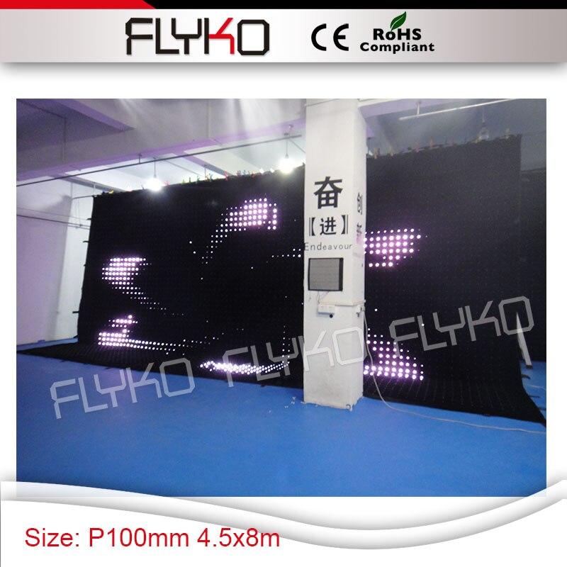 Высокой четкости P10 большой размер освещения сцены фоне падения занавес для концертного партии