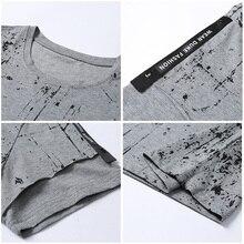 Webbing design printed cotton T shirts