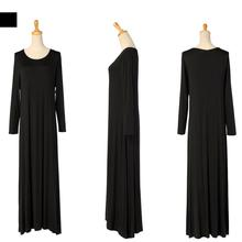 Muslim women dress djellaba casual abaya plus size Kaftan cotton long dress turkish